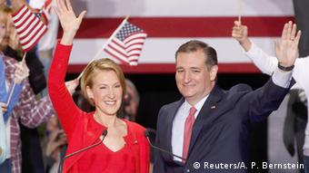USA Vorwahlen in Indianapolis, Indiana 2016 Ted Cruz und Carly Fiorina