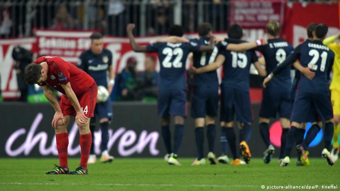 Fußball Champions League FC Bayern München gegen Atletico Madrid