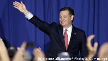 Ted Cruz waves to supporters in Indianapolis on the night he suspended his campaign