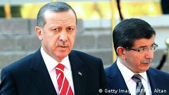 Türkei Ahmet Davutoglu und Tayyip Erdogan