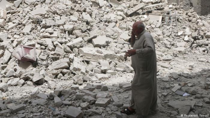 Syrien Zerstörung nach Luftangriff auf Aleppo