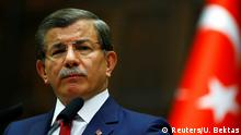 03.05.2016 **** Turkey's Prime Minister Ahmet Davutoglu addresses members of parliament from his ruling AK Party (AKP) during a meeting at the Turkish parliament in Ankara, Turkey, May 3, 2016. REUTERS/Umit Bektas © Reuters/U. Bektas