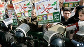Treffen der Arabischen Liga in Kairo Ägypten protestaktion in Dänemark der ägyptisch-mulimischen Bruderschaft