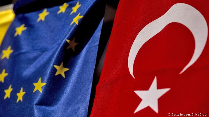 EU and Turkish flags