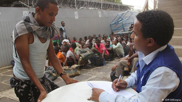 Äthiopien äthiopische Flüchtlinge Rückkehrer im Addis Ababa IOM Transit Center