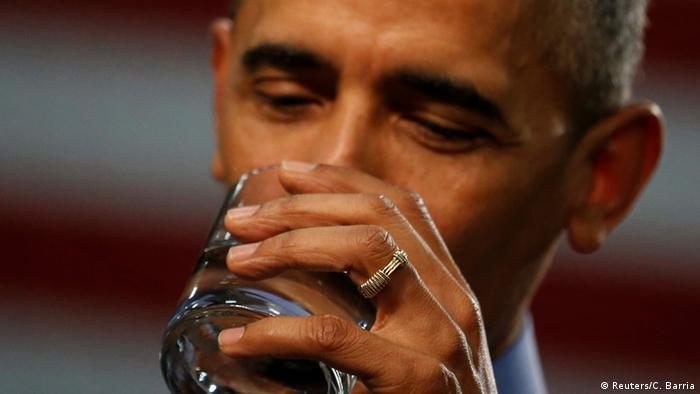 US President Barack Obama in Flint