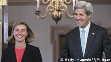 USA Federica Mogherini und John Kerry in Washington