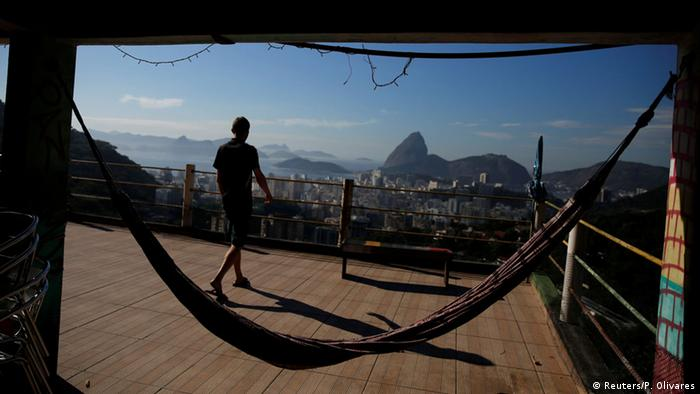 terrace, view and hammock