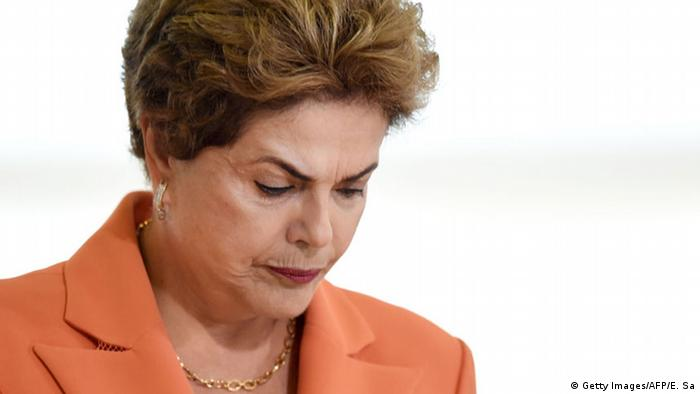 Brasiliens suspendierte Präsidentin Dilma Rousseff (Foto: Getty Images/AFP)