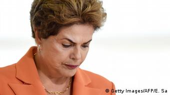 Brazilian President Dilma Rousseff attends the launching of the Agricultural and Livestock Plan for 2016/2017, at Planalto Palace in Brasilia, on May 4, 2016. +++ (C) Getty Images/AFP/E. Sa