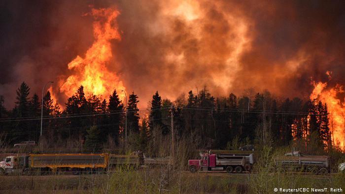 Kanada Waldbrände in der Nähe von Fort McMurray