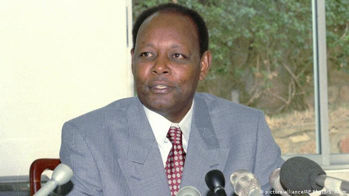 Burundi Bujumbura Jean-Baptiste Bagaza ehemaliger Präsident von Burundi (picture-alliance/AP Photo/S. Azim)