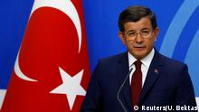 05.05.2016+++ Turkish Prime Minister Ahmet Davutoglu speaks during a news conference at his ruling AK Party headquarters in Ankara, Turkey May 5, 2016. +++ (C) Reuters/U. Bektas