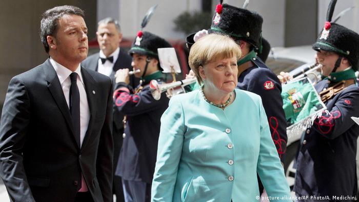 Italien Rom Merkel und Matteo Renzi