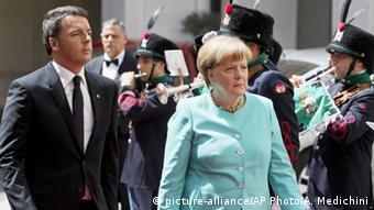 Маттео Ренци и Ангела Меркель
