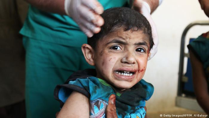 Syrien Luftangriffe in Maaret al-Numan (Getty Images/AFP/M. Al-Bakour)