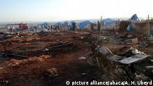 Syrien Luftangriffe auf Kamuna Flüchtlingslager nahe Sarmada