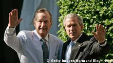 USA Ehemaliger Präsident George W. Bush und seinem Vater