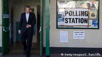 Conservative Mayoral candidate, Zac Goldsmith, leaves a polling station at Kitson Hall Copyright: Getty Images/C. Ratcliffe