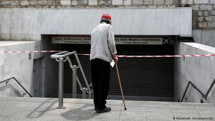 Griechenland Generalstreik U-Bahn-Haltestelle Syntagma in Athen