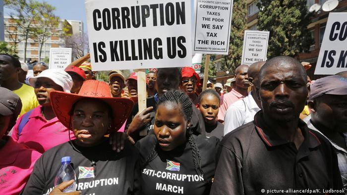 Südafrika Pretoria Anti-Korruptionsmarsch
