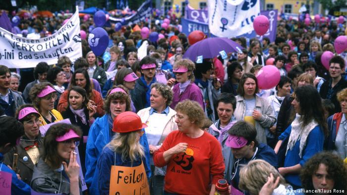 Germany demonstration in Bonn for women's rights