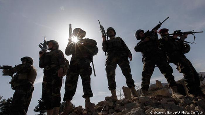 Afghanistan Armee in der Nähe von Kabul