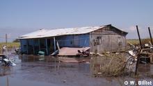 2008 Wohnhaus auf der Isle de Jean Charles nach dem Hurrikan Gustav im Jahr 2008 Copyright: W. Billiot