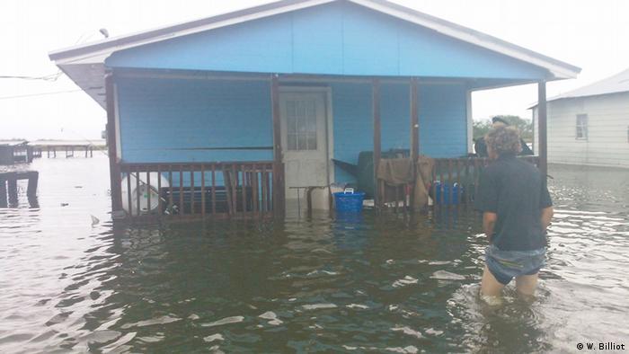 USA Louisiana Isle de Jean Charles Wohnhaus