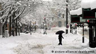Schnee in Augsburg Verkehr Wetter