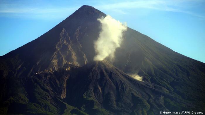 Guatemala Santiaguito Vulkan