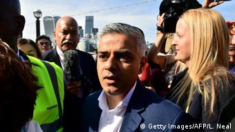 London Bürgermeister Wahl Kandidat Sadiq Khan (Getty Images/AFP/L. Neal)