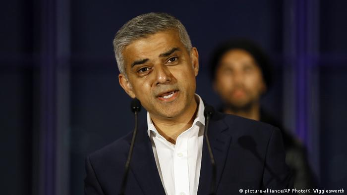 London Bürgermeister Sadiq Khan (picture-alliance/AP Photo/K. Wigglesworth)