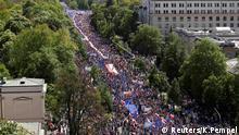Polen Demonstration Anti Regierung Warschau