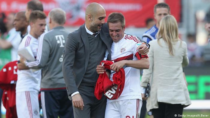 Pep Guardiola y Philipp Lahm