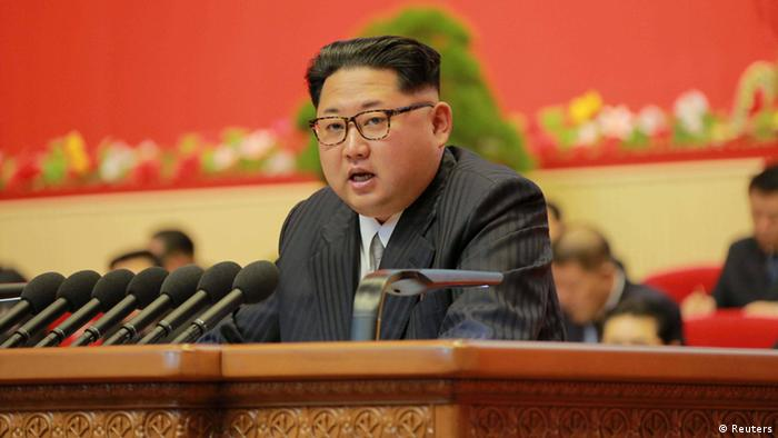 North Korean leader Kim Jong Un speaks during the Workers' Party Congress in Pyongyang May 7, 2016 in this handout photo provided by KCNA (Photo: KCNA/via REUTERS)