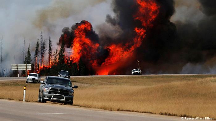Kanada Fort McMurray Feuer Großbrand Waldbrand Zerstörung