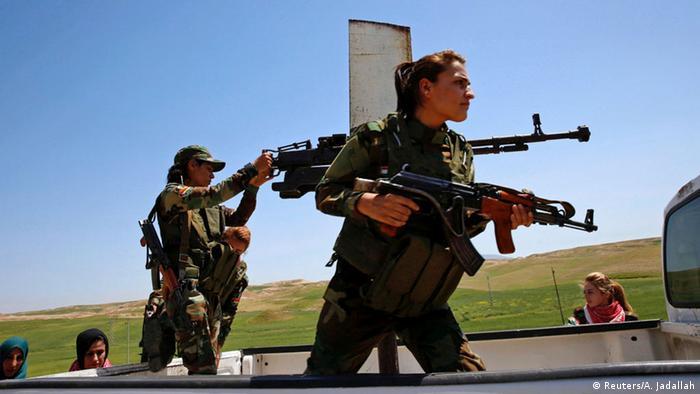 Irak Nawaran Anti-IS-Miliz Frauen Kurdinnen Jesidinnen (Reuters/A. Jadallah)