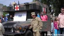 Die Bilder hat DW-Korrespondentin in Moldau Yulia Semenova in Chisinau am 08.05.2016 gemacht. Ausstellung der NATO-Militärtechnik in Chisinau (Moldau) Copyright: DW/Y. Semenova