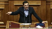 Griechenland Athen Parlament Alexis Tsipras
