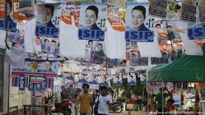 Philippinen Wahlplakaten