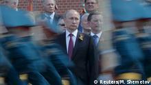 Russland Militärparade zum Tag des Sieges Putin Soldaten