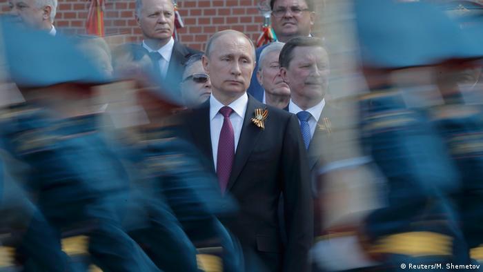 Владимир Путин на военном параде в Москве в честь Дня Победы (фото из архива)