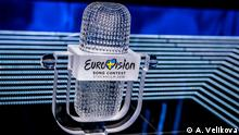 Der Pokal des Eurovision Song Contests in Stockholm 2016