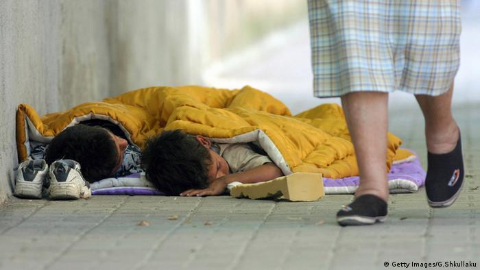 Albanien Kinder Straßenkinder Tirana