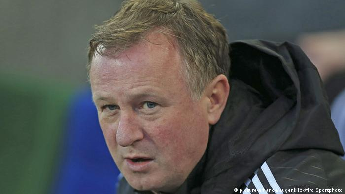 Fußball Trainer Michael O'Neill, the Northern Ireland manager