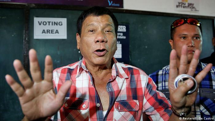Philippinen Präsidentschaftskandidat Rodrigo Duterte