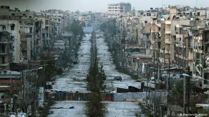 Syrien Krieg - Zerstörung in Aleppo