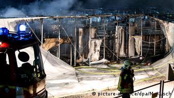 Deutschland Brand Flüchtlingsunterkunft in Gelsenkirchen