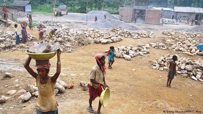 Indien Steinbrucharbeiter Arbeitssicherheit